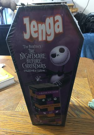 Unopened Jenga Tim Burton's Nightmare Before Christmas collectors edition for Sale in SeaTac, WA