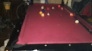 Pool/air hockey table compleat/cues rack paddles and pucks for Sale in San Jose, CA