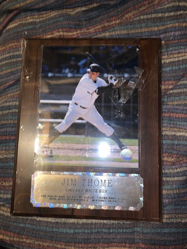 Jim Thome Chicago white Sox baseball plaque