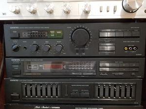Vintage Onkyo Reciever, Equalizer, Amplifier. $140 Pickup in Oakdale for Sale in Oakdale, CA