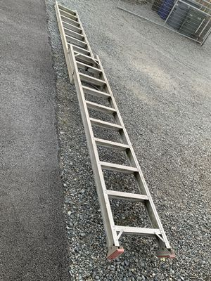 18 Foot Wide Step Extension Ladder without click stop for Sale in Puyallup, WA