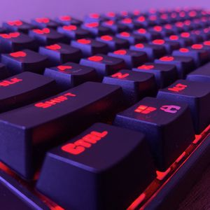 Cherry MX Blue Red Dragon 75% Gaming Keyboard for Sale in Bakersfield, CA