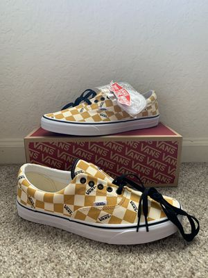 Brand new vans era checkerboard color white & yellow size10.5M& 12W for Sale in Tampa, FL