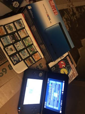 Nintendo 3DS XL Blue with 15 DS games and 8 3DS games for Sale in Wexford, PA