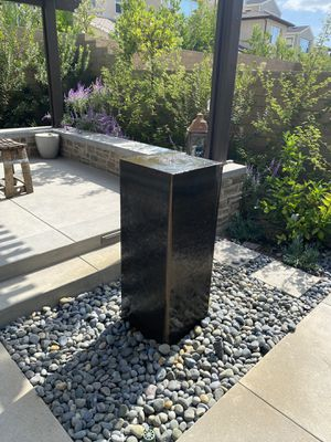 Corten steel 36 inch water fountain for Sale in Trabuco Canyon, CA