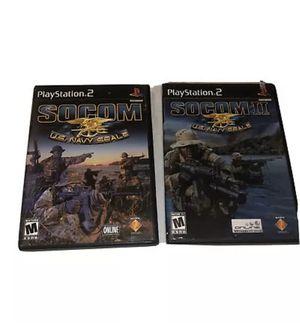Lot Of 2 SOCOM & II U.S. Navy SEALs Sony PS2 GAME Bundle for Sale in Farmers Branch, TX