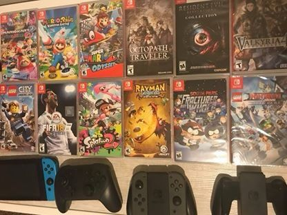 BUNDLE - NOT SOLD SEPARATELY- Nintendo Switch + Memory Card + Games + Controllers + Multiple Accessories + Case and Bag