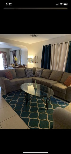 Sectional with coffee table set and sofa chair for Sale in Peoria, AZ