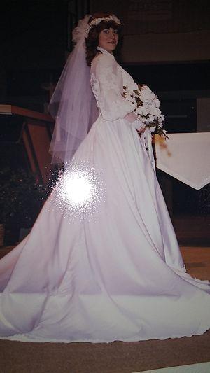 Satin Wedding Dress by Maurer for Sale in Houston, TX