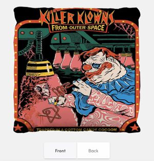 Killer klowns From Outer Space x Pillow for Sale in Palmdale, CA