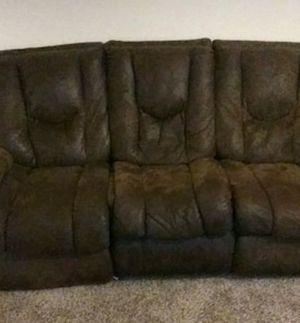 Brown sofa with recliner for Sale in Abilene, TX