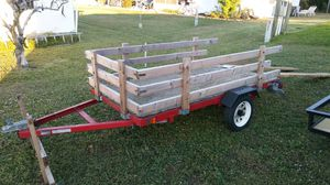 4 x 8 Utility Trailer (with side rails and ramps) for Sale in Lake Placid, FL