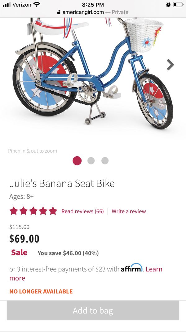 American girls doll bike