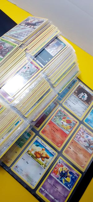 POKEMON CARDS LOT.360 COLLECTIBLES WITH BINDER for Sale in Houston, TX