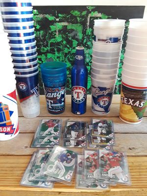 Texas Rangers memorabilia baseball cards cups and collectibles for Sale in Plano, TX