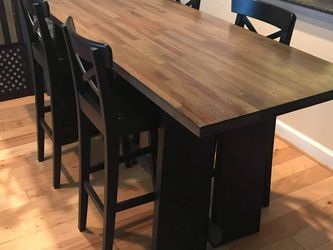 Wood Table And Chairs (less than a year old)! for Sale in Rockville,  MD