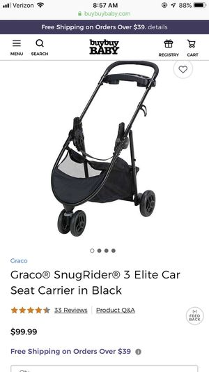 Graco snugrider car seat carrier stroller for Sale in Mason, OH