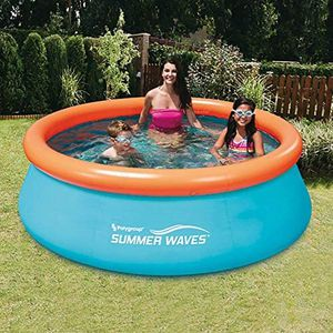 Summer Waves 8ft x 30in Small Kiddie Inflatable Kids Above Ground Swimming Pool (Pump not included) for Sale in Quincy, MA