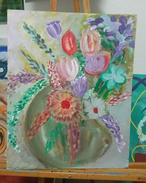 Flower Acrylic Paintings for Sale in Austin, TX