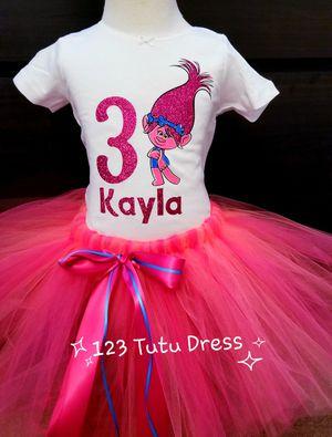 Troll Poppy Birthday Tutu Outfit for Sale in El Monte, CA