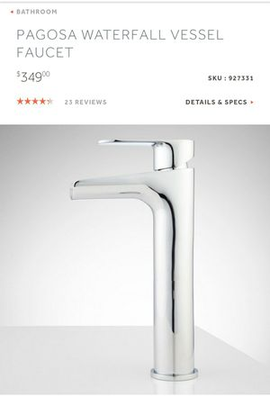 PAGOSA WATERFALL VESSEL FAUCET for Sale in Kent, WA