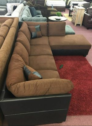 Special for Black Friday ‼ SALES Matisse Chocolate/Mocha Sectional with Ottoman | U5011 274 for Sale in Columbia, MD