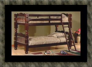 Twin wooden bunkbed frame for Sale in Fairfax, VA