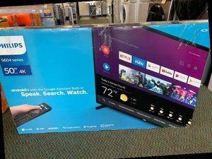 "Brand New Philips TV! 50"" inch open box w/ warranty E for Sale in Saginaw, TX"