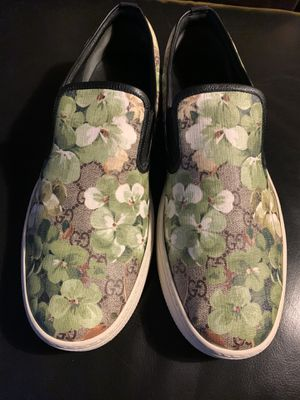 Gucci Supreme GG Canvas 'Bloom' Print Slip-On Sneaker.s Green flower 407362 size 12 for Sale in Hawthorne, CA
