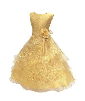 New Flower girl gold dress for Sale in Phoenix, AZ