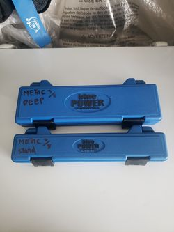 Cornwell Chrome  Metric 6 Point 3/8 Short And Deep Sockets  for Sale in Garden Grove, CA