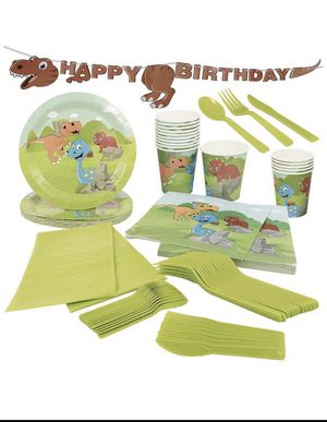 Brand new dinosaur birthday party supplies (pick up only) for Sale in Alexandria, VA