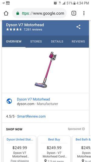 Dyson V7 motorhead cordless vacuum for Sale in Riverside, CA