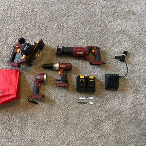 Chicago Tools Cordless Set of 4 Tools, 2 Batteries, and Chargers for Sale in Fort Myers, FL