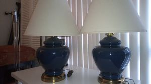 Vintage Blue Lamps with new lamp shade for Sale in Las Vegas, NV