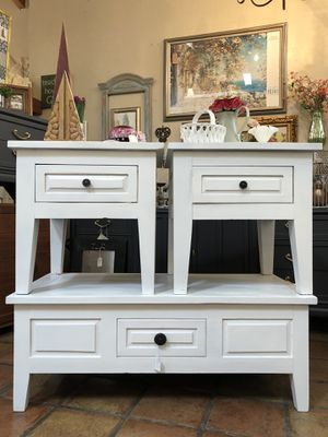 Heavy solid wood rustic farmhouse coffee table and end tables for Sale in Peoria, AZ