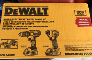 DeWalt drill/impact driver combo set for Sale in Rose Hill Acres, TX