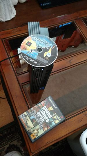 Fat PS2 2 games power av cord sorry no controller for Sale in Denver, CO