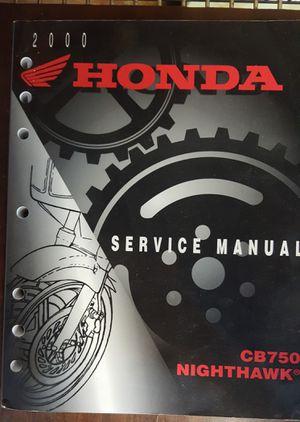 Honda Service Manual - CB750 & Nighthawk for Sale in Baton Rouge, LA