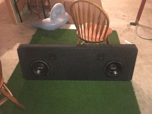 """Powerbass subwoofers with truck box 10"""" for Sale in Columbia, MO"""