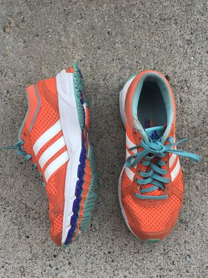 Women's Adidas running shoes, size 6, orange for Sale for sale  MONARCH BAY, CA