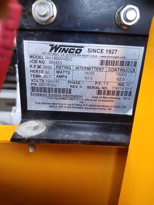 Miller weldmaster tpo robot welder and Winco 18000 watt generator for Sale in Burleson, TX