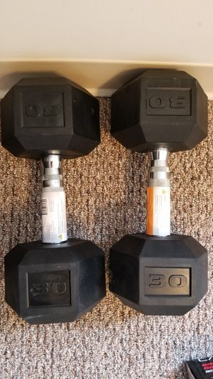 New pair of CAP 30lbs hex dumbbells for Sale in Medford, MA