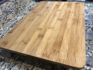 Cutting board bamboo with hidden drawers for Sale in Bellevue, WA