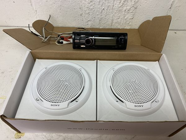 Sony Stereo and Speakers (Marine Grade)