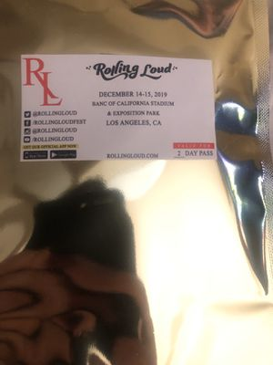 Rolling loud GA wristband(2-day) for Sale in Riverside, CA