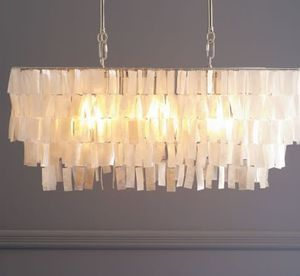 West Elm capiz shell chandelier for Sale in Vancouver, WA