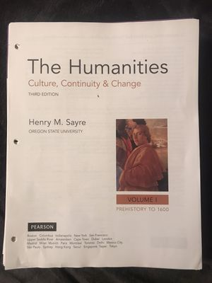 The Humanities Textbook for Sale in Seminole, FL