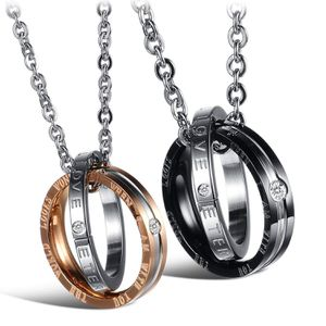 *NO FADE* 2 Pcs His & Hers Matching Set Stainless Steel Couples Necklace for Lover Valentine a Pair for Sale in Los Angeles, CA