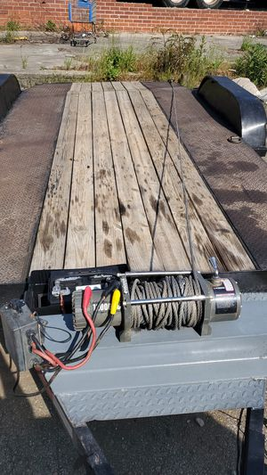 7x16 car trailer with winch for Sale in Kennesaw, GA